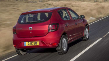 Dacia Sandero hatchback rear 3/4 driving