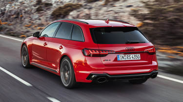 Audi RS4 Avant driving - rear view