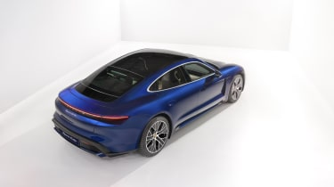 2020 Porsche Taycan - rear 3/4 angled view