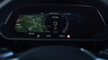 Audi e-tron Sportback SUV navigation