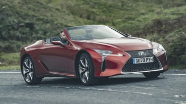 Lexus LC Convertible side cornering