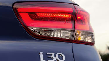Rear headroom is a little tight in the i30, but this is true of many family hatchbacks