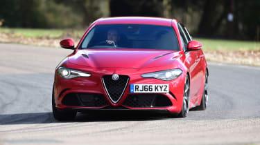 Alfa Romeo Giulia Quadrifoglio saloon front cornering