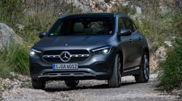Mercedes GLA SUV front off-road