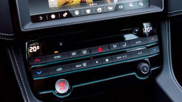 Jaguar F-Pace SUV centre console