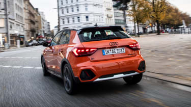 Audi A1 Citycarver hatchback rear driving