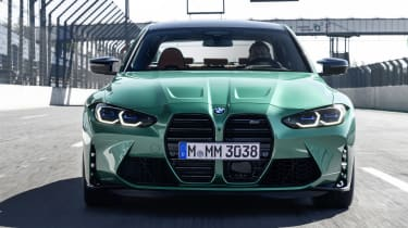 2021 BMW M3 Competition saloon - front on view dynamic