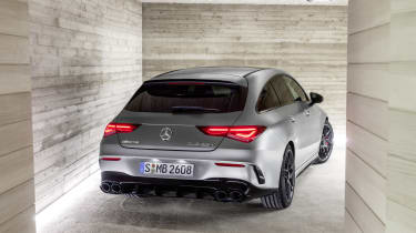 2019 Mercedes-AMG CLA 45 S Shooting Brake - rear on static view