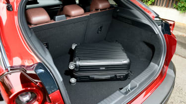Mazda MX-30 SUV boot with suitcase