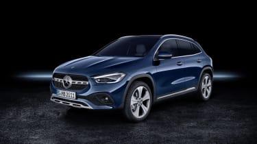 Mercedes GLA in blue - studio shot