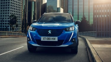 New Peugeot e-2008 - front view driving