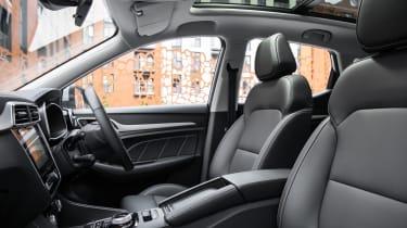 MG ZS EV SUV front seats
