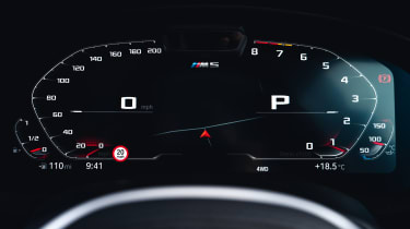 2021 BMW M5 Competition saloon - digital dial cluster
