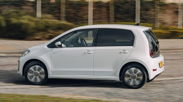 Volkswagen e-up driving - side