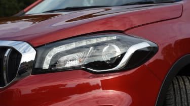 LED projector headlights are standard on the SZ-T and SZ5