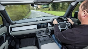 Land Rover Defender 110 - interior view driving