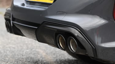 BMW M8 Convertible exhaust tailpipes