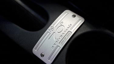 Abarth 695 70th Anniversario - limited edition interior detail