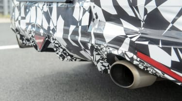 2019 Hyundai i30 Fastback N prototype exhaust