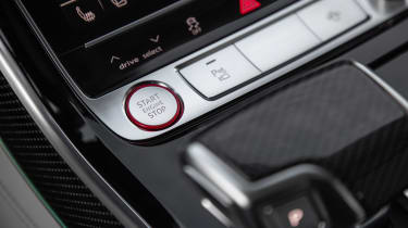 Audi S8 saloon engine start button