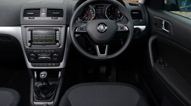 The Yeti's interior is a bit dull, but does the job in most respects