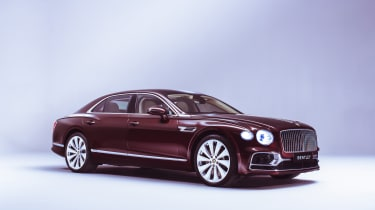 2019 Bentley Flying Spur - front 3/4 static burgundy