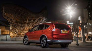 The CR-V has a very large boot, measuring 589 litres or 1,669 litres when the seats are folded flat