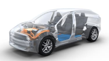 2022 Subaru Solterra - cutaway powertrain