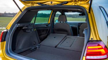 Volkswagen Golf hatchback boot seats folded