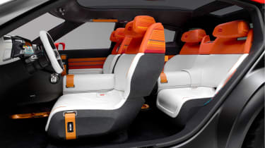 The production model will feature five seats