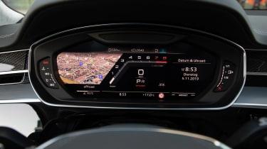 Audi S8 saloon digital instrument cluster