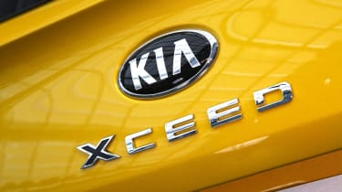 2019 Kia Xceed - rear badging close up