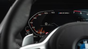 BMW M235i Gran Coupe saloon digital instruments