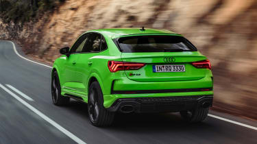 Audi RS Q3 Sportback driving - rear view