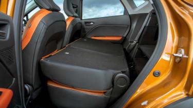 Renault Captur SUV seats folded