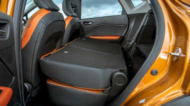 Renault Captur SUV seats folded