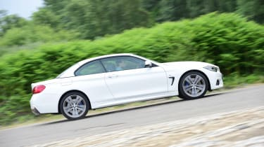 The BMW 420d is the most economical version, returning up to 55mpg
