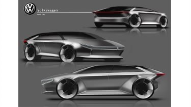Meng Tian – Meng's presentation aimed to bring a stronger, more powerful aesthetic as a future design direction for Volkswagen's EVs, in contrast to the softer face of the I.D