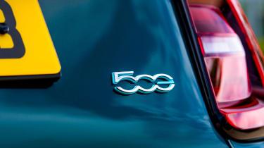 Fiat 500 electric rear badge