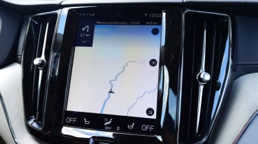 The 9-inch portrait display also has standard sat-nav with clear graphics