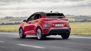 2020 Hyundai Kona N Line - rear 3/4 dynamic