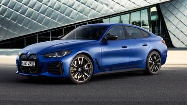 2021 BMW i4 M50 - front 3/4