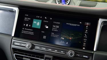 Porsche Macan SUV infotainment display