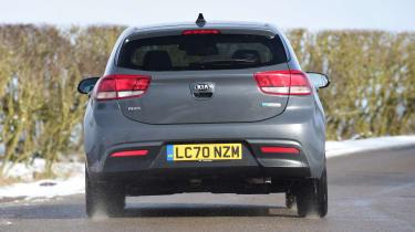 Kia Rio hatchback rear cornering