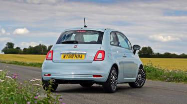 Fiat 500 mild hybrid rear 3/4 static