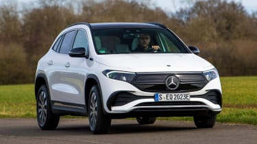 Mercedes EQA SUV review front 3/4 cornering