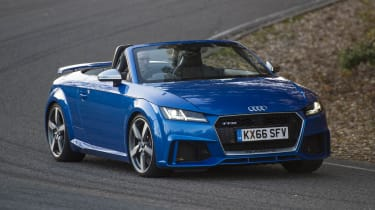 Audi's quattro four-wheel drive system makes the TT RS Roadster grippy and stable in all road conditions