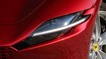 Ferrari Roma coupe headlights