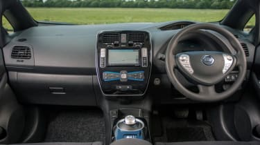 The Leaf has enough hi-tech touches to remind you you're driving something different, but the controls work intuitively