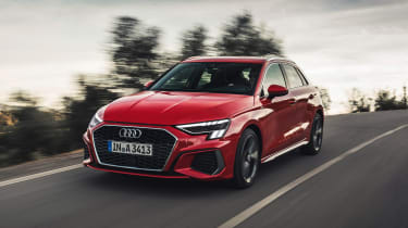 Audi A3 Sportback front 3/4 tracking
